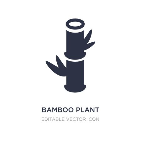 bamboo plant from japan icon on white background. Simple element illustration from Nature concept. bamboo plant from japan icon symbol design. Иллюстрация