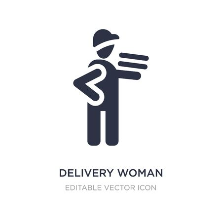 delivery woman icon on white background. Simple element illustration from People concept. delivery woman icon symbol design.