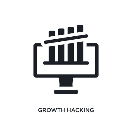 growth hacking isolated icon. simple element illustration from technology concept icons. growth hacking editable logo sign symbol design on white background. can be use for web and mobile Illustration