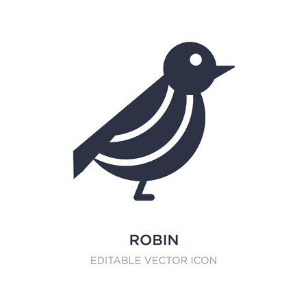 robin icon on white background. Simple element illustration from Animals concept. robin icon symbol design. 向量圖像