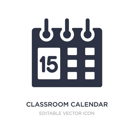 classroom calendar icon on white background. Simple element illustration from General concept. classroom calendar icon symbol design.