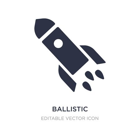 ballistic icon on white background. Simple element illustration from Education concept. ballistic icon symbol design.