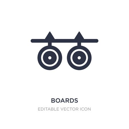 boards icon on white background. Simple element illustration from Weapons concept. boards icon symbol design.