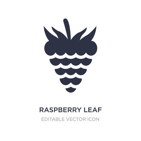 raspberry leaf icon on white background. Simple element illustration from Food concept. raspberry leaf icon symbol design. Ilustracja
