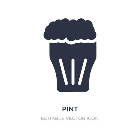 pint icon on white background. Simple element illustration from Food concept. pint icon symbol design.