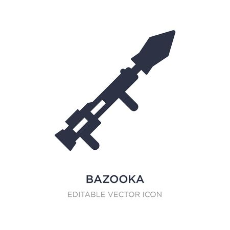 bazooka icon on white background. Simple element illustration from Weapons concept. bazooka icon symbol design.