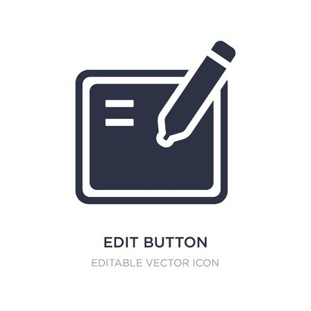 edit button icon on white background. Simple element illustration from UI concept. edit button icon symbol design.