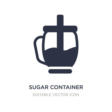 sugar container icon on white background. Simple element illustration from Food concept. sugar container icon symbol design.