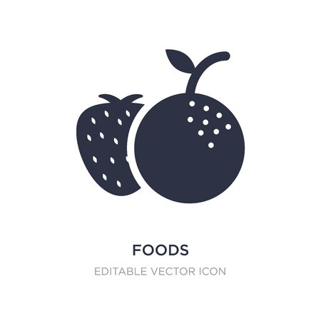 foods icon on white background. Simple element illustration from Food concept. foods icon symbol design.