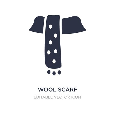 wool scarf icon on white background. Simple element illustration from Fashion concept. wool scarf icon symbol design. Ilustrace