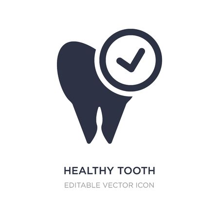 healthy tooth icon on white background. Simple element illustration from Dentist concept. healthy tooth icon symbol design. Stock Illustratie