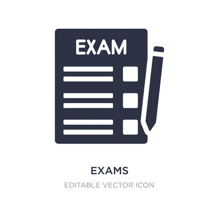 exams icon on white background. Simple element illustration from Education concept. exams icon symbol design. Illusztráció