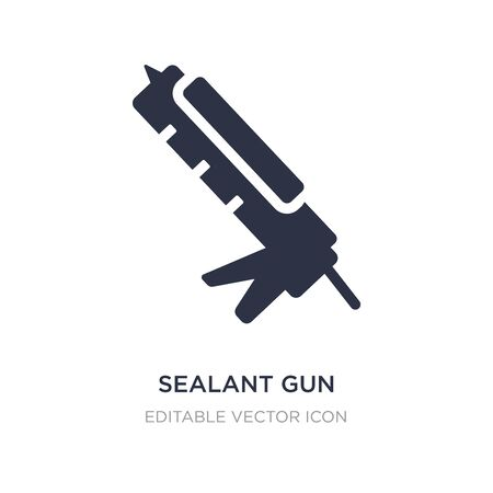 sealant gun icon on white background. Simple element illustration from Construction and tools concept. sealant gun icon symbol design. Vecteurs
