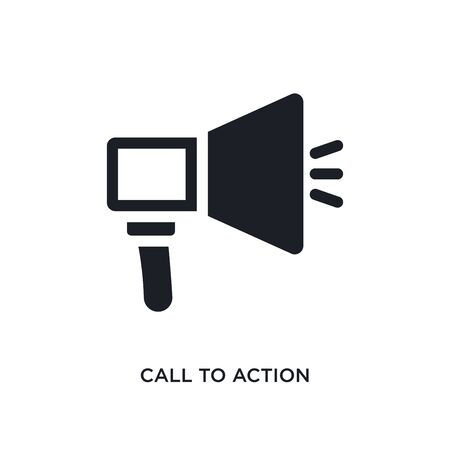 call to action isolated icon. simple element illustration from technology concept icons. call to action editable logo sign symbol design on white background. can be use for web and mobile Illusztráció