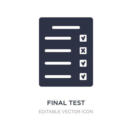 final test icon on white background. Simple element illustration from Education concept. final test icon symbol design.