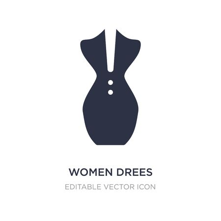 women drees icon on white background. Simple element illustration from Fashion concept. women drees icon symbol design.