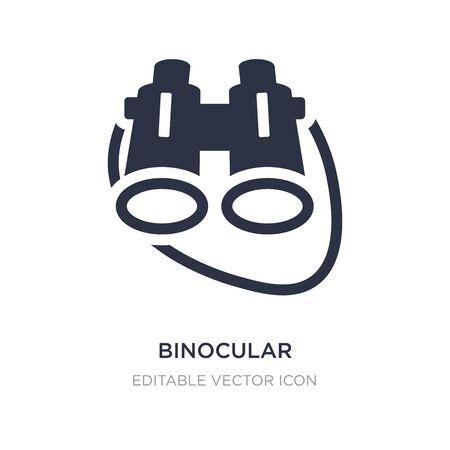 binocular icon on white background. Simple element illustration from General concept. binocular icon symbol design.