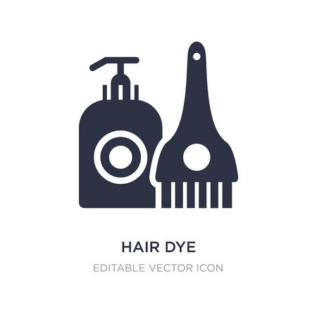 hair dye icon on white background. Simple element illustration from Fashion concept. hair dye icon symbol design.
