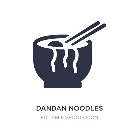 dandan noodles icon on white background. Simple element illustration from Food concept. dandan noodles icon symbol design.