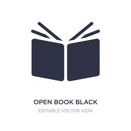 open book black cover icon on white background. Simple element illustration from Education concept. open book black cover icon symbol design. 向量圖像