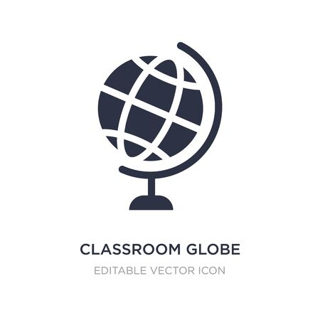 classroom globe icon on white background. Simple element illustration from Education concept. classroom globe icon symbol design.
