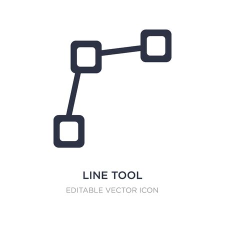 line tool icon on white background. Simple element illustration from Edit tools concept. line tool icon symbol design.