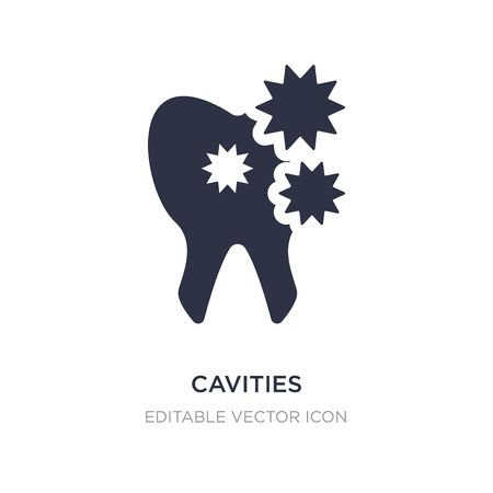 cavities icon on white background. Simple element illustration from Dentist concept. cavities icon symbol design.