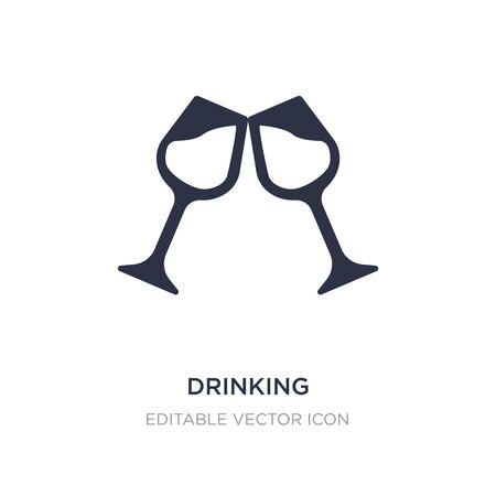drinking icon on white background. Simple element illustration from Food concept. drinking icon symbol design. Ilustrace