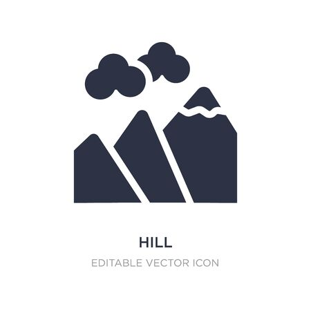 hill icon on white background. Simple element illustration from Nature concept. hill icon symbol design.