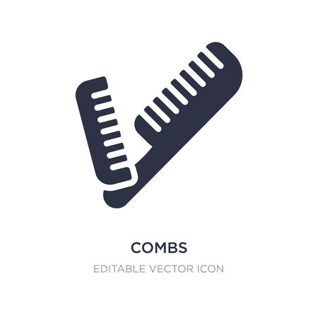 combs icon on white background. Simple element illustration from Tools and utensils concept. combs icon symbol design.
