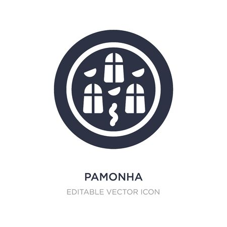 pamonha icon on white background. Simple element illustration from Food and restaurant concept. pamonha icon symbol design. Vector Illustration