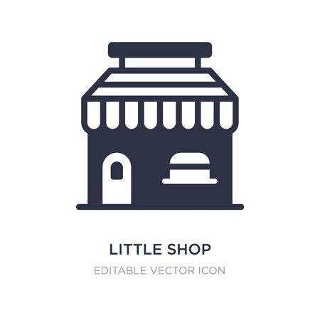 kleine winkel met luifel pictogram op witte achtergrond. Eenvoudige elementenillustratie van bedrijfsconcept. kleine winkel met luifel pictogram symbool ontwerp. Vector Illustratie