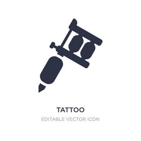 tattoo icon on white background. Simple element illustration from Tools and utensils concept. tattoo icon symbol design.