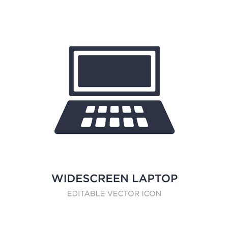 widescreen laptop icon on white background. Simple element illustration from Computer concept. widescreen laptop icon symbol design. Stock Vector - 134969455