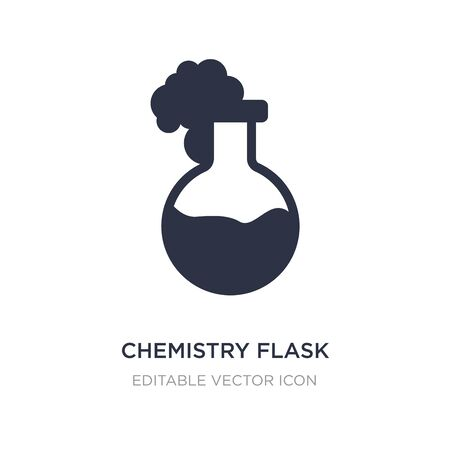 chemistry flask with liquid icon on white background. Simple element illustration from Tools and utensils concept. chemistry flask with liquid icon symbol design.