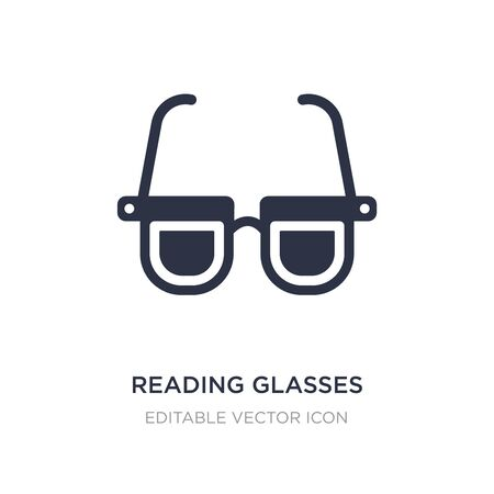 reading glasses icon on white background. Simple element illustration from Tools and utensils concept. reading glasses icon symbol design. Stock Illustratie