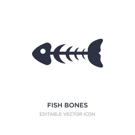 fish bones icon on white background. Simple element illustration from Animals concept. fish bones icon symbol design.