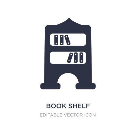 book shelf icon on white background. Simple element illustration from Education concept. book shelf icon symbol design. 版權商用圖片 - 134969836