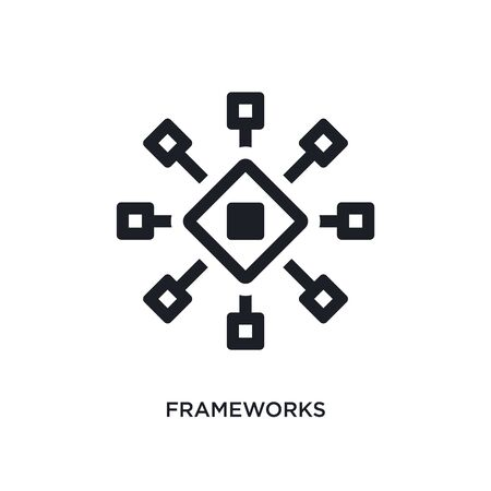 frameworks isolated icon. simple element illustration from technology concept icons. frameworks editable logo sign symbol design on white background. can be use for web and mobile Illustration