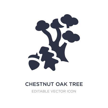 chestnut oak tree icon on white background. Simple element illustration from Nature concept. chestnut oak tree icon symbol design.