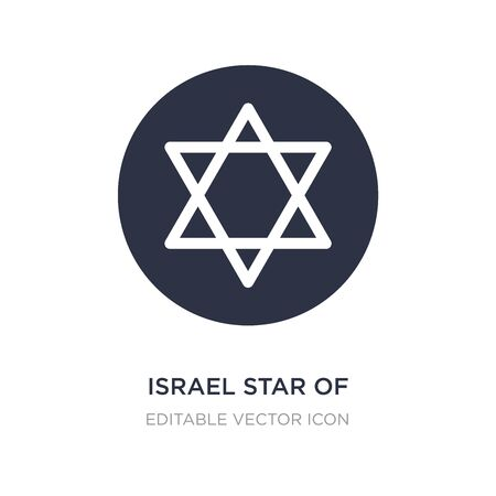 israel star of david icon on white background. Simple element illustration from Cultures concept. israel star of david icon symbol design.