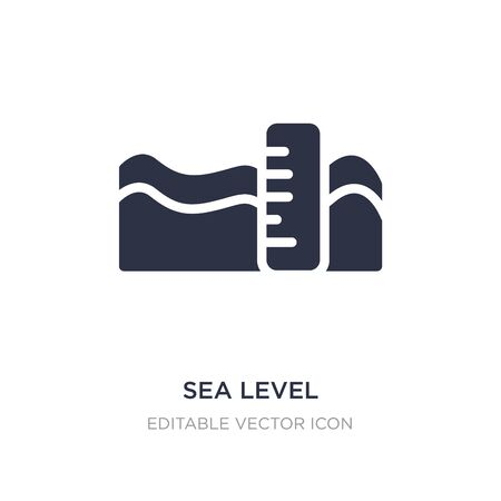 sea level icon on white background. Simple element illustration from Weather concept. sea level icon symbol design.
