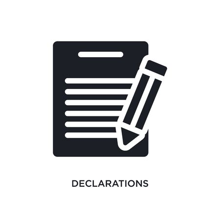 declarations isolated icon. simple element illustration from technology concept icons. declarations editable logo sign symbol design on white background. can be use for web and mobile