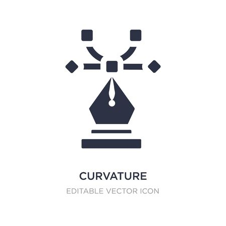 curvature icon on white background. Simple element illustration from Edit tools concept. curvature icon symbol design.