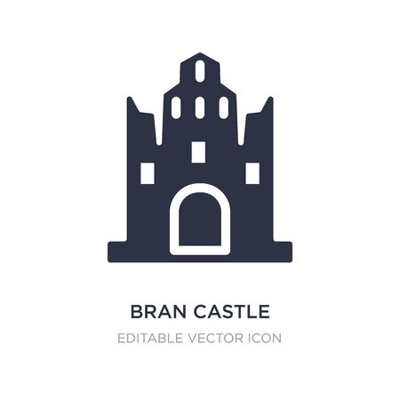 bran castle icon on white background. Simple element illustration from Monuments concept. bran castle icon symbol design.