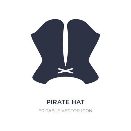 pirate hat icon on white background. Simple element illustration from Fashion concept. pirate hat icon symbol design. Ilustracja