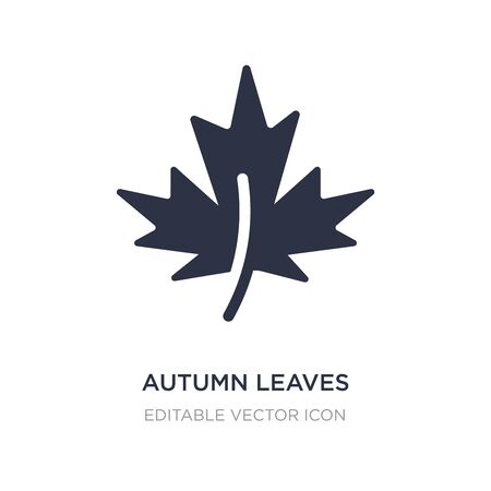 autumn leaves icon on white background. Simple element illustration from Nature concept. autumn leaves icon symbol design.