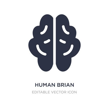 human brian icon on white background. Simple element illustration from Nature concept. human brian icon symbol design. Illustration
