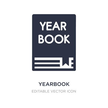 yearbook icon on white background. Simple element illustration from General concept. yearbook icon symbol design.