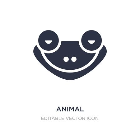 animal icon on white background. Simple element illustration from Animals concept. animal icon symbol design.